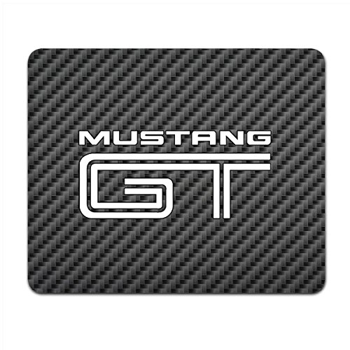 Price comparison product image Ford Mustang GT Black Carbon Fiber Texture Graphic PC Mouse Pad , Made in USA