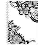 Mead Academic Weekly / Monthly Planner, Zendoodle, July 2017 - June 2018, 5-1/2'' x 8-1/2'', Floral Design (CAW413D1)