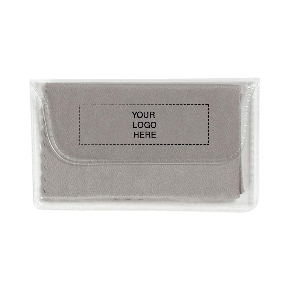 Microfiber Cleaning Cloth in Case | 250 Qty | 0.96 Each | Customization Product Imprinted & Personalized Bulk with Your Custom Logo Gray by Promo Direct