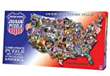 TDC Games USA Shaped Puzzle Roadtrip America Puzzle