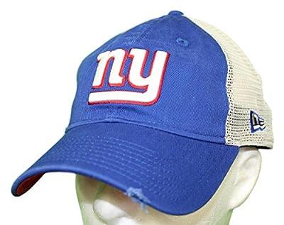 New York Giants Stated Back 9TWENTY Adjustable Trucker Hat/Cap by New Era