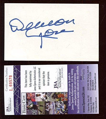 Deacon Jones Autographed Index Card JSA Cert - NFL Cut Signatures ()