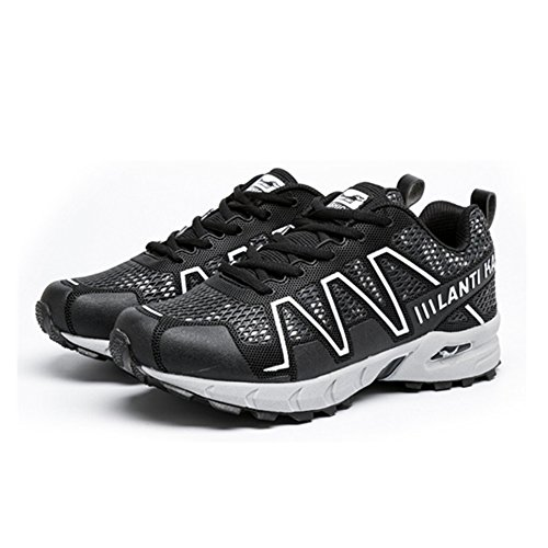 Running Knit Breathable Shoes Workout BERTERI Sneakers Athletic Jogging Shoes Outdoor Black Walking 0xY7qE