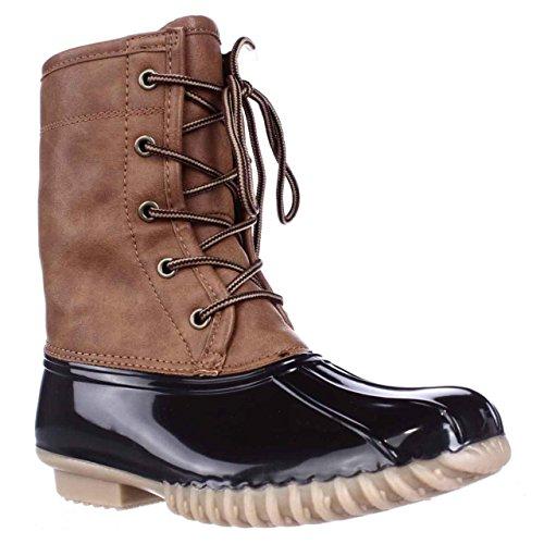 - The Original Duck Boot Womens Arianna Round Toe Rainboots, Tan, Size 7