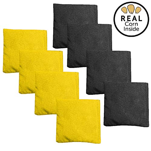 black and yellow corn hole bags - 2