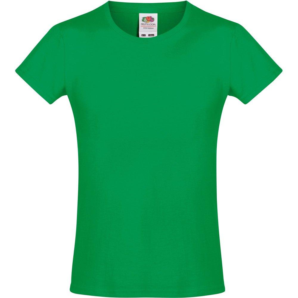 9a6cb4236c1 Fruit Of The Loom Girls Softspun T Shirt  Amazon.co.uk  Clothing