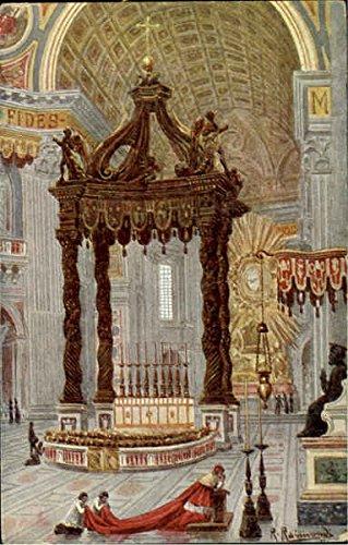 (Interno Della Basilica Di S. Pietro Original Vintage Postcard)