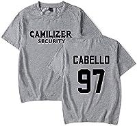Camiseta De Verano con Cuello Redondo para Hombre/Mujer Playera Estampada Camila Cabello Top De Manga Corta De Algodón Juvenil