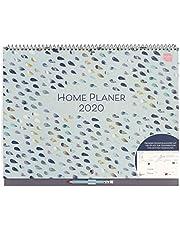 Boxclever Press Home Planer Kalender 2020. Großer Familienplaner 2020 mit großen Terminfeldern pro Tag, Platz für Notizen & Tasche. Wandkalender 2020, ab sofort nutzbar bis Dezember 2020