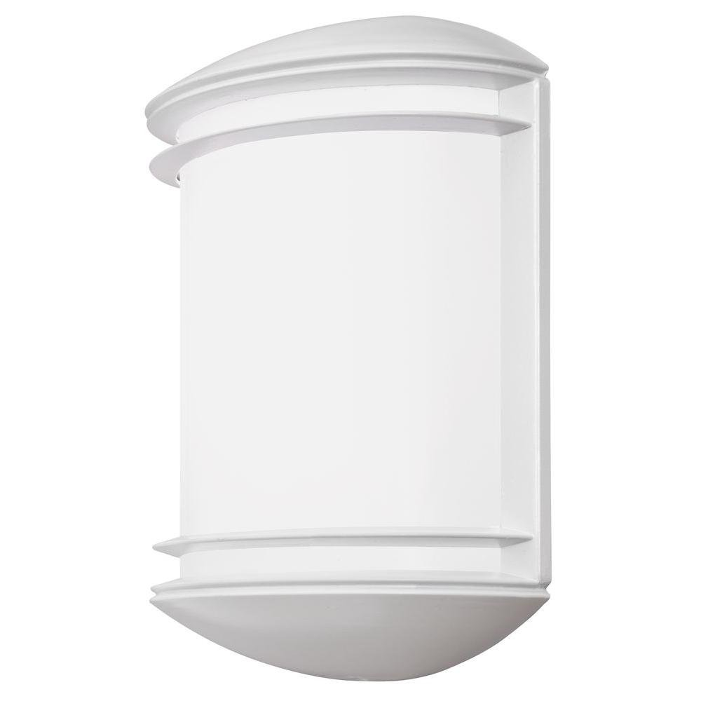 Lithonia Lighting OLCS 8 WH M4 LED Outdoor Wall Sconce, White