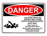 ComplianceSigns Vinyl OSHA DANGER Label, 5 x 3.5 in. with Crane Info in English, 4-pack White
