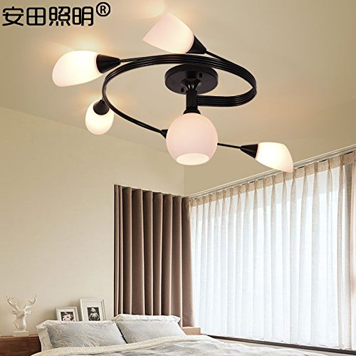 BGmdjcf Ceiling Lamp Creative Personality Living Room , Bedroom 5+1 (Health Led Warm Light 7W