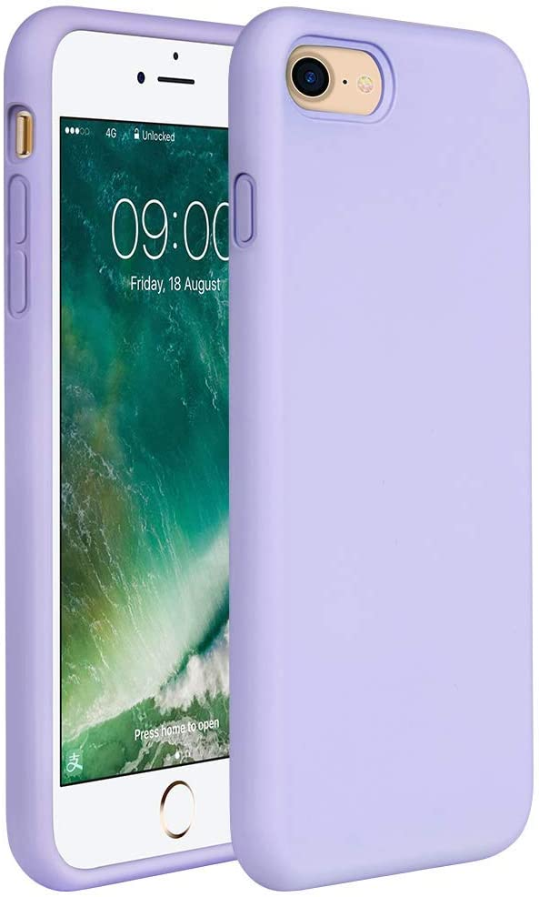 """Miracase iPhone SE 2020 Case,iPhone 8 case,iPhone 7 Silicone Case Gel Rubber Full Body Protection Shockproof Cover Case Drop Protection for Apple iPhone SE 2020/ iPhone 8/ iPhone 7(4.7"""")(Light Purple)"""