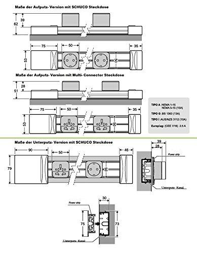 Vario Stromleiste mit verschiebbaren Steckdosen: Amazon.de: Elektronik
