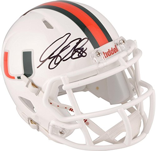 Greg Olsen Miami Hurricanes Autographed Riddell Speed Mini Helmet - Fanatics Authentic Certified - Autographed College Mini Helmets - Greg Olsen Miami