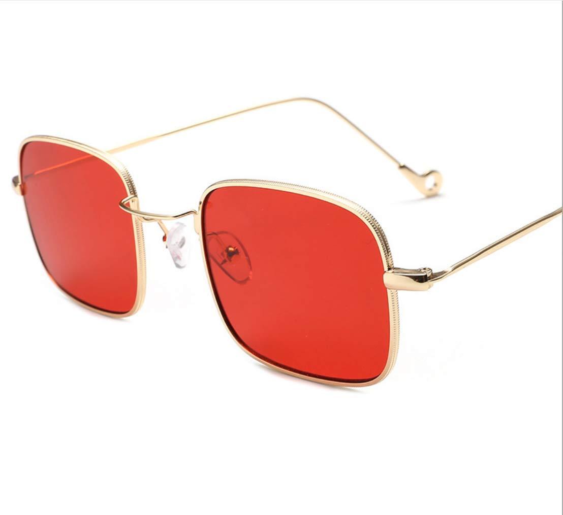 FILTERQ Gafas de Sol de Gran tamaño para Mujer con diseño clásico Uv400 Protección Marco de Metal de Moda Gafas para Hombres Ms- Rojo, Amarillo, Verde, Azul, Negro, Dorado