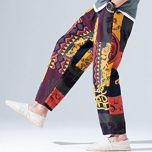 Larghe Uomo Larghi Elasticizzati Somesun Elegante Sportivi Multicolore Pantaloni Da Invernali Retrò Sportivo Tasche Cotone Biancheria pantaloni Vita Lavoro Alta FHfx0
