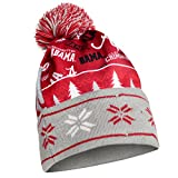 NCAA Alabama Crimson Tide Busy Block Printed Light Up Beanie, One Size, Red