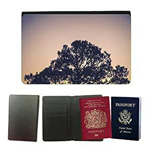 Couverture de passeport // M00421596 Planta árbol Naturaleza Medio Ambiente // Universal passport leather cover