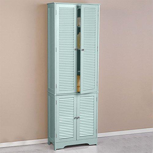 Brylanehome Louvre Linen Cabinet (Seafoam,0) (Linen Bath Cabinet)