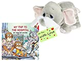 Get Well Soon Set Plush Elephant Keepsake Tissue Heart Keepsake & My Trip to the Hospital w/Gift Tag