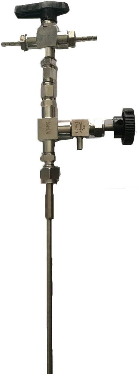 Socialism 304 Kit de mangueras de 3 vías de presión contrapresión de contrapresión de Acero Inoxidable para Equipos de embotellado de Pistola de Cerveza de fabricación casera - Plata