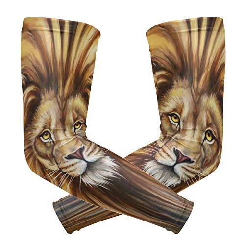 Arm Sleeves Aslan Lion Man Baseball Long Cooling Sleeves Sun UV Compression Arm Covers -