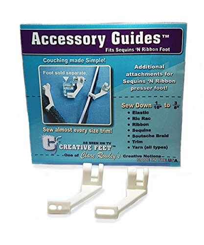 Creative Feet AG-94 Accessory Guide Set for Sequins & Ribbon (Sequins Ribbon Foot)
