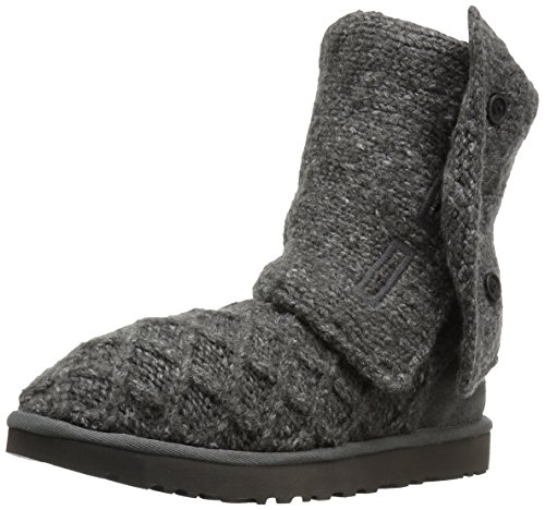 UGG Women's Lattice Cardy Winter Boot, Charcoal, 7 B US by UGG