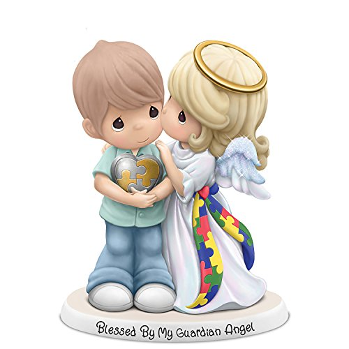 Precious Moments Guardian Angel Autism Awareness Figurine:by The Hamilton Collection