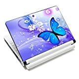 "iColor Laptop Skin Sticker Soft Vinyl Sticker Decal Cover for 12"" 13"" 13.3"" 14"" 15"" 15.4"" 15.6"" Sony HP Asus Acer Toshiba Dell Notebook Butterfly"