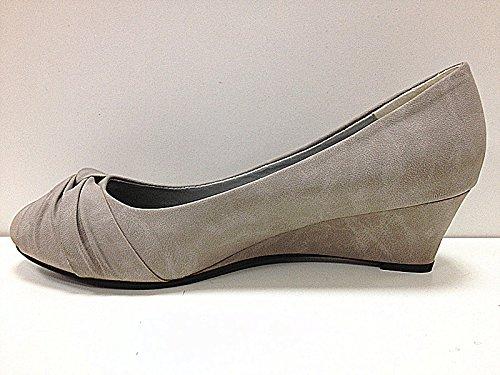 Mujeres tacón cuña GRIS color con zapatos X de botas B5 AxarqA