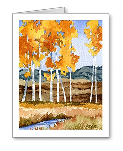 Aspen Trees - Set of 10 Note Cards With Envelopes