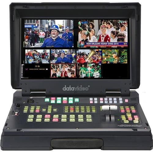 Datavideo HS-2200 Hand Carried Mobile Studio with HD/SD-SDI & HDMI Inputs, Integrated 17.3'' Monitor, Dual PiP, 6-Input Multi-Definition Switcher by Datavideo