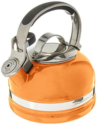 KitchenAid KTEN20SBDO 2.0-Quart Kettle with Full Stainless Steel Handle and Trim Band – Mandarin Orange