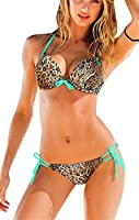 Sexy-temptation Womens Girl Lady Leopard Swimsuit Swimwear Padded Bikini Push Up