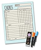 household chores calendar - Jennakate Blue Magnetic Single Child Behavior Reward Chore Chart-Daily Household Chore Checklist-Job Chart-Dry Erase- 11