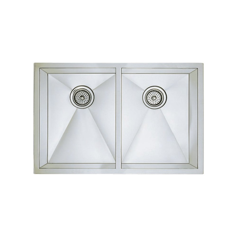 Blanco 516211 16 Inch Precision Medium Equal Double Bowl Undermount Sink,  Stainless Steel     Amazon.com