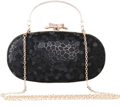 Color Black PU Handle Women Diff Girls Pattern Cube Bag Evening Clutch Purse Water Bettyhome Z7ATO7