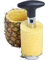 Easy Tool Stainless Steel Fruit Pineapple Corer Slicer Peeler Cut (One size, Sliver)