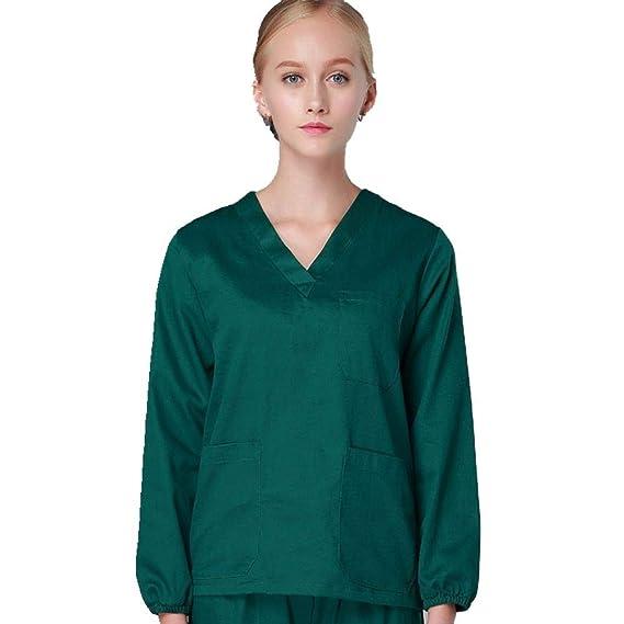 afbf53331e87a QZTG Medical coat Men Winter Medical Scrub Sets Nurse Clothing Top Pant  Suit Nursing Medical Apparel Winter Doctor Scrub Or Work Clothes,M,Green:  ...