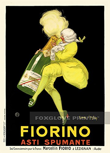 Foxglove Prints Fiorino Asti Spumanti Italian Sparkling Wine Poster Print, 5x7 (Asti Spumante)