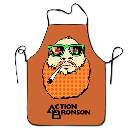 switchwak Women's Apron - Action Bronson Kitchen and Cooking Apron, Durable Stripe for Cooking, Grill and Baking ()