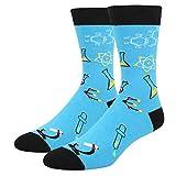 Men's Funny Chemistry Crew Socks Novelty Science Nerd School Teacher Gift