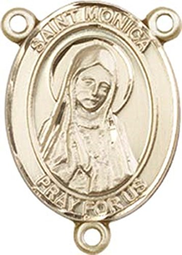 14K Gold Filled Saint Monica Rosary Centerpiece Medal, 3/4 Inch