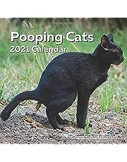 Pooping Cats Calendar 2021: Funny Cat Lover Wall Calendar Gag Joke Gift - Women, Men, Crazy Lady, Birthday, White Elephant Party, Secret Santa, Exchange, Stocking Filler, Christmas