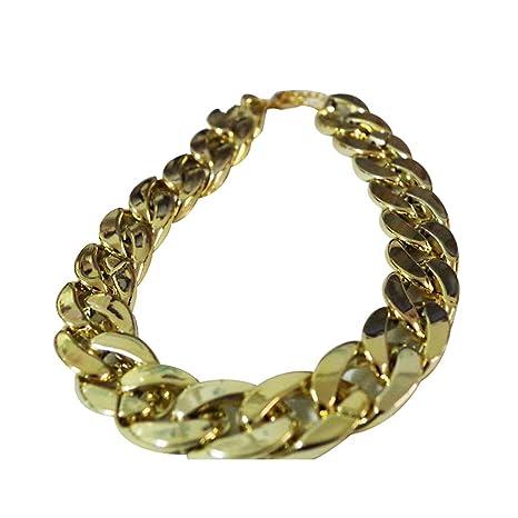 periwinkLuQ Collar de Cadena de Oro bañado en frío (36 cm/45 cm)