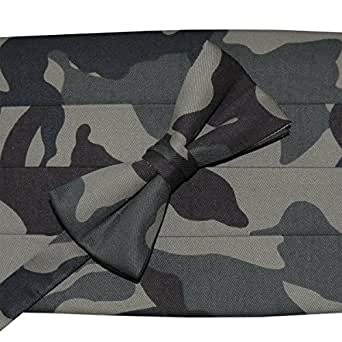 Camouflage Bow Tie & Cummerbund Set