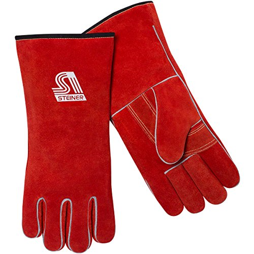 Steiner 022US-L ThermoCore Foam Lined Side Split Cowhide Stick Welding Gloves, Large