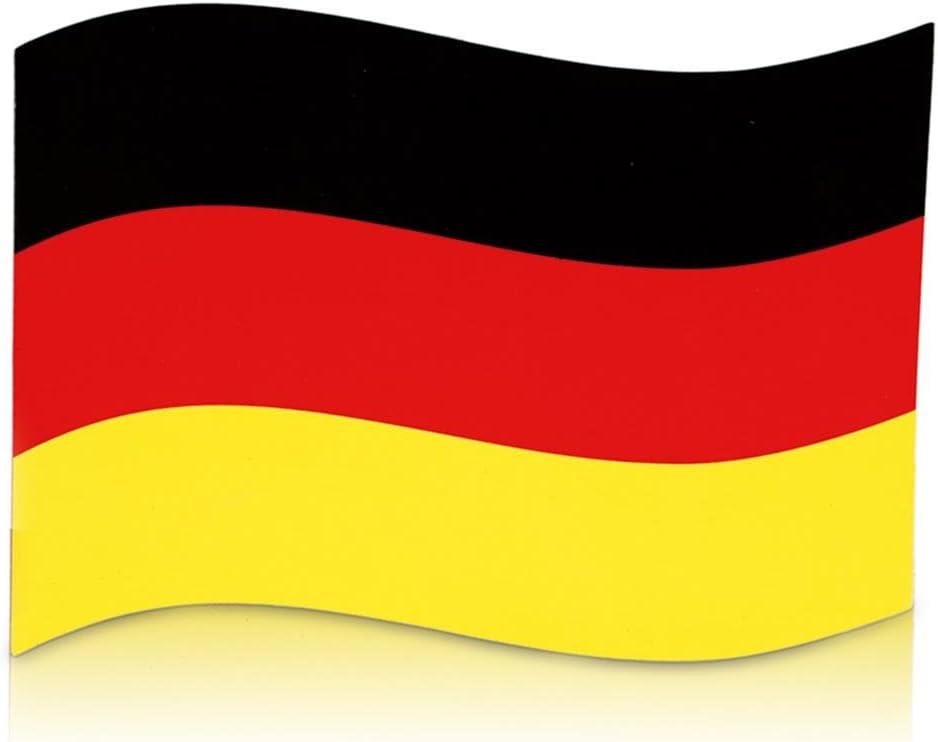 4 x imán bandera de Alemania de la bandera de 21 x 15 cm con imán de coche para el mundial de EM: Amazon.es: Juguetes y juegos